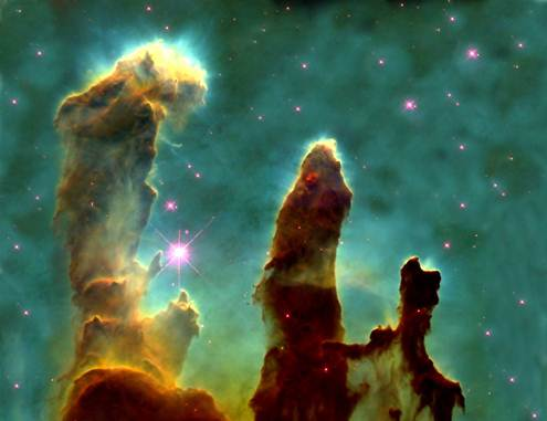Pillars of Creation from Hubble