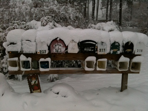 Snow mailboxes